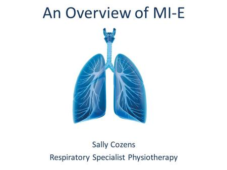 Respiratory Specialist Physiotherapy