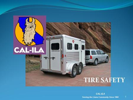 TIRE SAFETY 1 CAL-ILA Serving the Llama Community Since 1984.