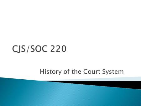 History of the Court System. Give Quiz 6 Collect first set of case analyses Remember must be submitted electronically as well.