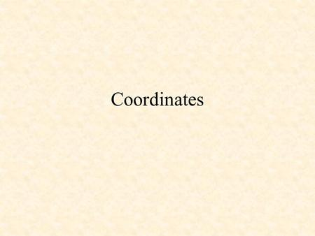 Coordinates. You are used to reading and plotting coordinates in this quadrant. 0 3 2 1 12345 5 4 This is called the first quadrant.