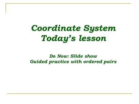 Guided practice with ordered pairs