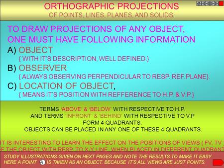 ORTHOGRAPHIC PROJECTIONS
