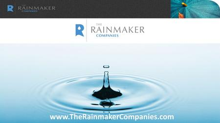 Www.TheRainmakerCompanies.com. We help accounting firms grow.