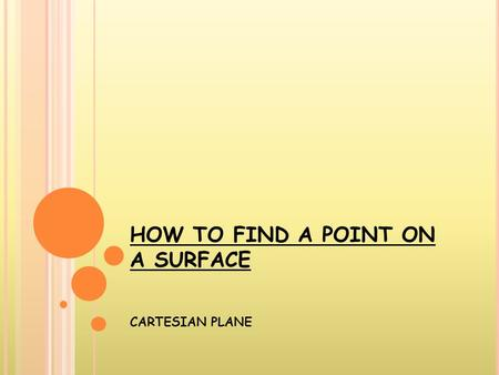 HOW TO FIND A POINT ON A SURFACE CARTESIAN PLANE.