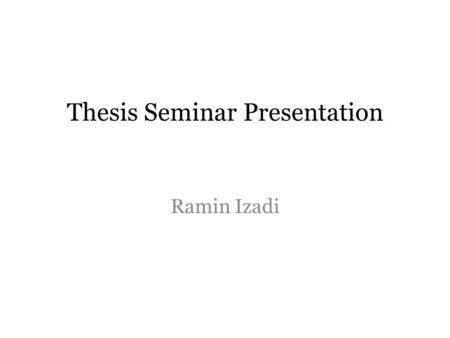 Thesis Seminar Presentation Ramin Izadi. 1. What is the question I am interested in? What is the effect of closing down schools on student outcomes?