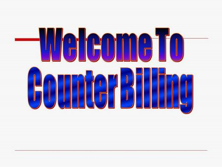 Counter Billing is a software to prepare invoices at retail counter very fast and quick. By using this software user can prepare the invoices for more.
