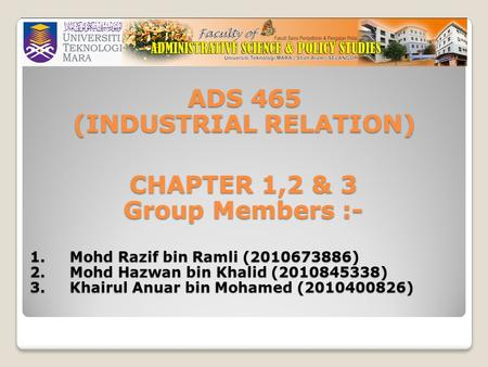 (INDUSTRIAL RELATION)