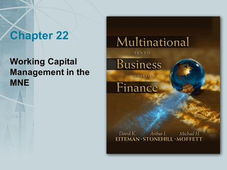 Working Capital Management in the MNE