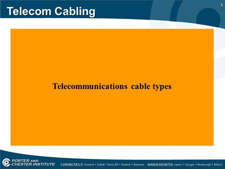 Telecommunications cable types