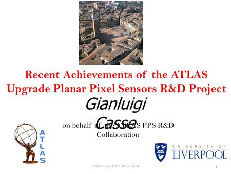 on behalf of the ATLAS PPS R&D Collaboration