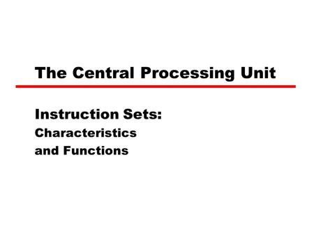 the history and functions of the central processing unit The cpu is the core component of any computer, and its main function is to  control and calculate binary calculations the abbreviation cpu stands for  central.