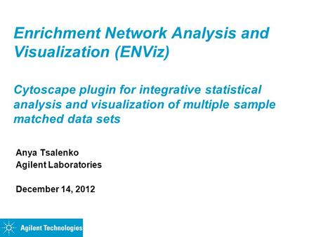 Enrichment Network Analysis and Visualization (ENViz) Cytoscape plugin for integrative statistical analysis and visualization of multiple sample matched.