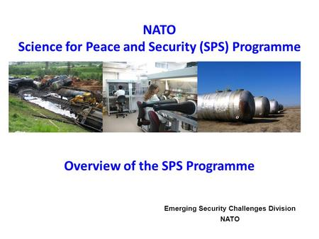 Science for Peace and Security (SPS) Programme