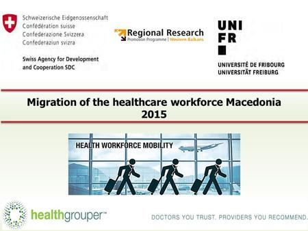 Migration of the healthcare workforce Macedonia 2015 3/24/2015 1.