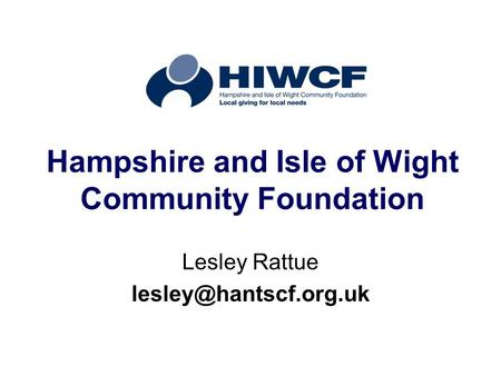 Hampshire and Isle of Wight Community Foundation Lesley Rattue