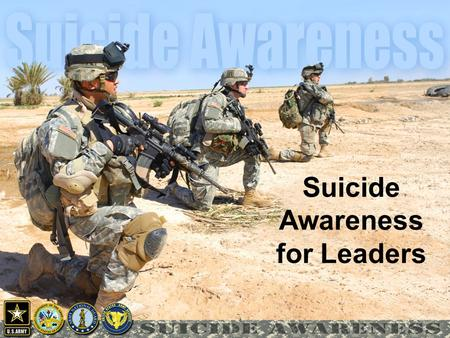 Suicide Awareness for Leaders. Agenda Bottom Line Vignette Leader Actions Safety Plan Development.