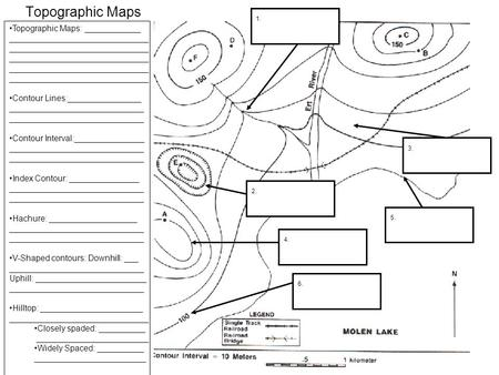 topographic map worksheet high school contour map worksheet middle schooltopographic high. Black Bedroom Furniture Sets. Home Design Ideas