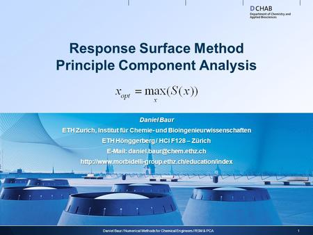 Response Surface Method Principle Component Analysis