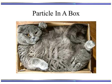 Particle In A Box.