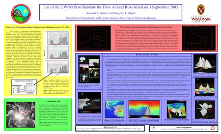 Use of the UW-NMS to Simulate the Flow Around Ross Island on 3 September 2003 Amanda S. Adams and Gregory J. Tripoli Department of Atmospheric and Oceanic.