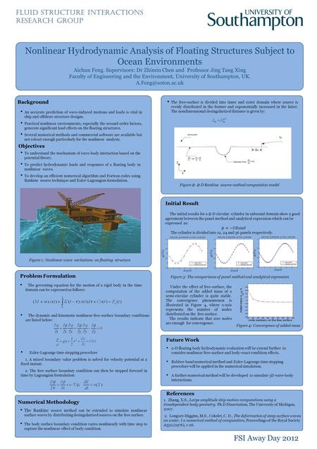 Nonlinear Hydrodynamic Analysis of Floating Structures Subject to Ocean Environments Aichun Feng. Supervisors: Dr Zhimin Chen and Professor Jing Tang Xing.