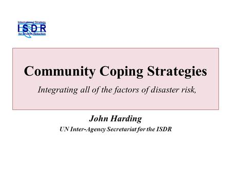 UN Inter-Agency Secretariat for the ISDR