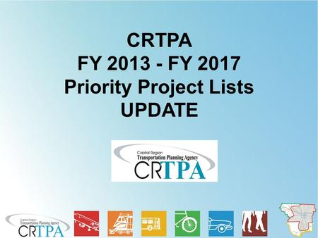 CRTPA FY 2013 - FY 2017 Priority Project Lists UPDATE.