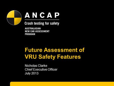 Future Assessment of VRU Safety Features