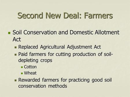 America gets back to work ppt video online download for Soil conservation act