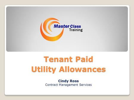 Tenant Paid Utility Allowances Cindy Ross Contract Management Services