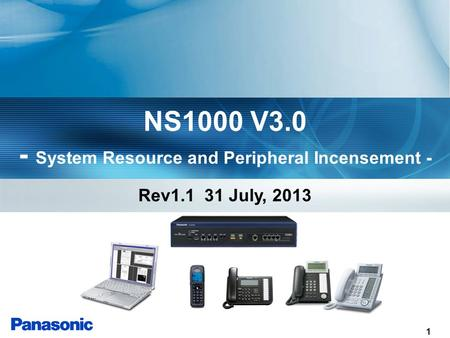 1 NS1000 V3.0 - System Resource and Peripheral Incensement - Rev1.1 31 July, 2013.