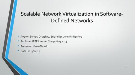thesis on network virtualization With virtualization and statistical multiplexing, cloud computing platforms are   we apply intra-session network coding to design a new inter-datacenter protocol .