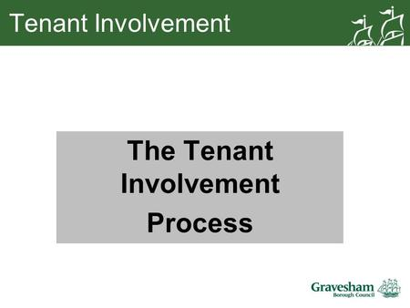 Tenant Involvement The Tenant Involvement Process.