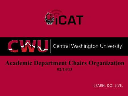 Academic Department Chairs Organization 02/14/13.