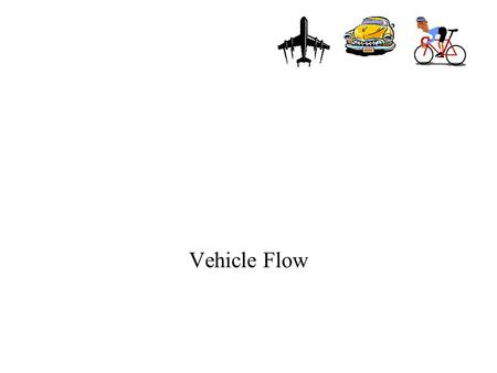 Vehicle Flow. Homework Ch 5 # 1, 2, 4, 7, 9 Vehicle Flow How do vehicles operate in the system –capacity –speed –headway –density.