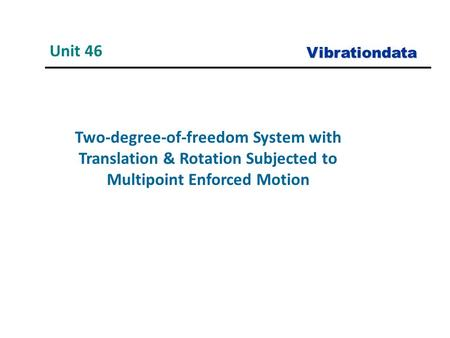 Unit 46 Vibrationdata Two-degree-of-freedom System with Translation & Rotation Subjected to Multipoint Enforced Motion.
