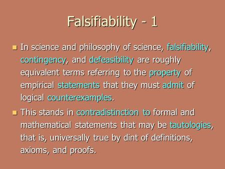 falsifiability essay in conclusion Karl Popper's Science Falsifiable Claims Vs Thomas Kuhn