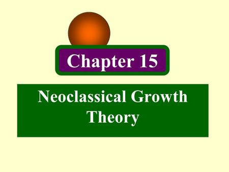 Neoclassical Growth Theory