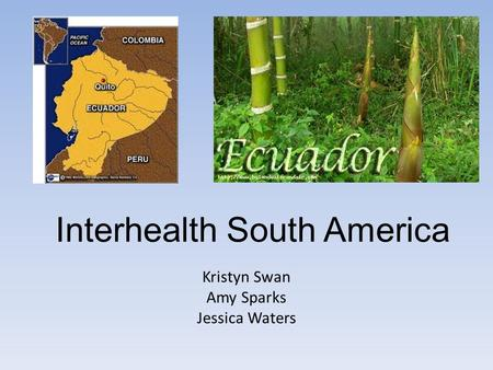 Interhealth South America Kristyn Swan Amy Sparks Jessica Waters.