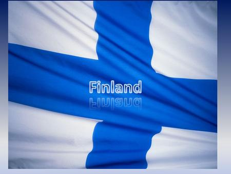 Map of Finland Our capital city is here And we live here.