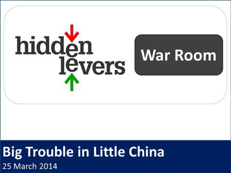 Big Trouble in Little China 25 March 2014 War Room.