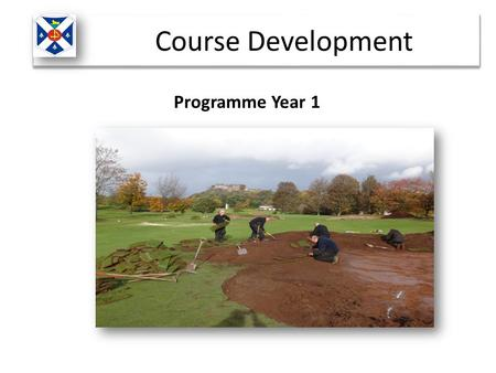 Programme Year 1 Course Development. At the beginning of 2014 the club appointed Golf Course Architect Howard Swan of Swan Golf Designs to carry out an.