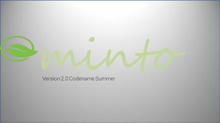 Minto Version 2.0 Codename Summer. minto 23/256 GB Choose a partition: