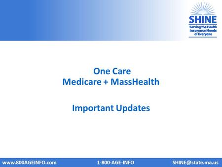 One Care Medicare + MassHealth Important Updates