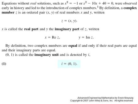 Advanced Engineering Mathematics by Erwin Kreyszig Copyright  2007 John Wiley & Sons, Inc. All rights reserved. Page 602.