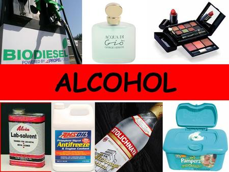 What do all of these products have in common? ALCOHOL.