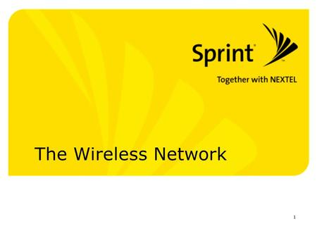 1 The Wireless Network. 2 Agenda Brief Introduction A list of the products and solutions Why Sprint Next Steps / Q & A.