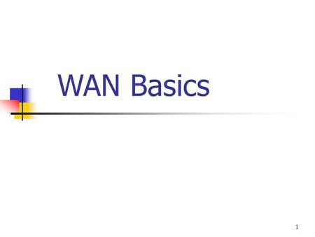 1 WAN Basics. 2 Agenda WAN Basics Point-to-Point Protocol (PPP) Integrated Services Digital Network (ISDN) Frame Relay.