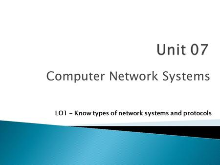 Computer <strong>Network</strong> Systems