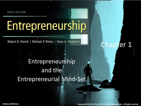 Entrepreneurship and the Entrepreneurial Mind-Set